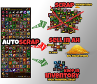 AutoScrap (Auto Scrap under a TSM AuctionHouse sell price)