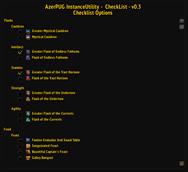 AzerPUG-InstanceUtility-CheckList