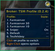 wow addon Broker_TSMProfile