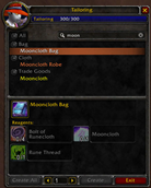 wow addon Classic Profession Filter