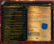 wow addon Classic Quest Log
