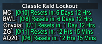 wow addon Classic Raid Info [CRI]