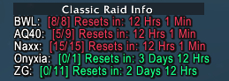 Classic Raid Info [CRI]