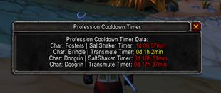 wow addon Cooldown Timer