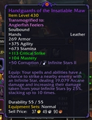 wow addon Corruption Tooltips