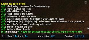 wow addon Cross Gambling