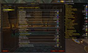 wow addon Currency Tracking