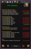 wow addon Daily Global Check_Pet Tamers