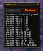 wow addon Death Roll
