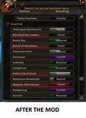 wow addon DWM Rep Colored Bars