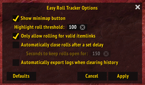 Easy Roll Tracker