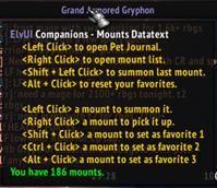 wow addon ElvUI Companions Datatext
