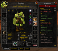wow addon Extended Character Stats