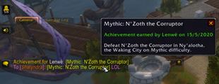 wow addon Fake Achievement