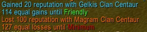 wow addon Gains To Next Rep Level