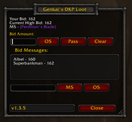 Genkai's DKP Loot System — Classic