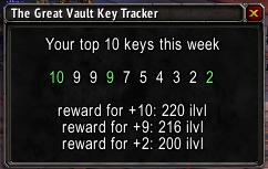 Great Vault Key Tracker