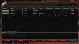 wow addon Guildbook