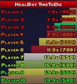 wow addon HealBot Plugin TimeToDie