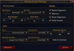 Healing Tracker