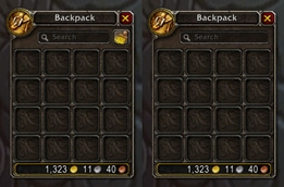 wow addon Hide Clean Up Bags Button