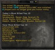 Honor Kills Counter