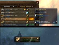 wow addon In Progress Missions