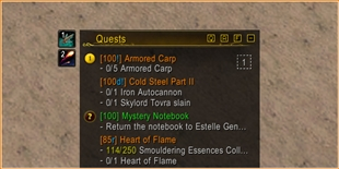 Kaliel's Tracker … Quests / World Quests / Achievements