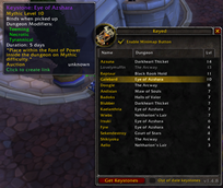 wow addon Keyed