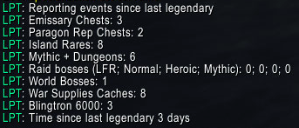 wow addon Legendary Progress Tracker
