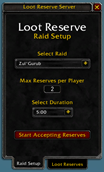 wow addon LootReserve