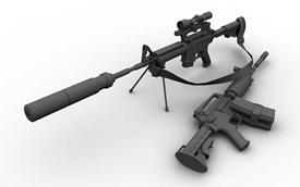 wow addon M4A1 Carbine Silencer/Suppressor/Crossbow/Bow