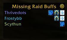 wow addon Missing Raid Buffs