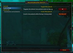 wow addon MouselookHandler (Mouse Look)