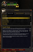 wow addon Notepad