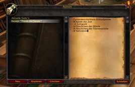 wow addon Notes