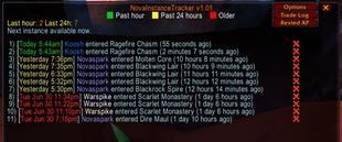Nova Instance Tracker