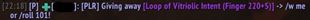 PersoLootRoll (PLR, Personal Loot Roll)