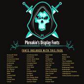 Phreakin's Display Fonts