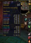 wow addon Played Time Minimap Clock
