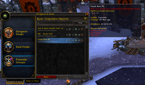 wow addon Premade Group Finder