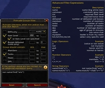 wow addon Premade Groups Filter
