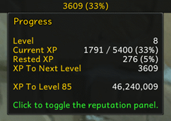 wow addon Progress