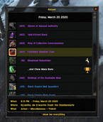 wow addon Recent