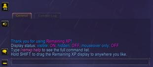 Remaining XP