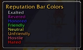 wow addon RepBarColors