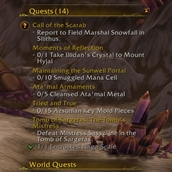 wow addon Show Quest Count
