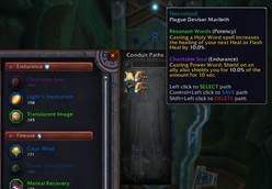 wow addon Soulbind Conduit Manager