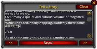 wow addon Story Teller