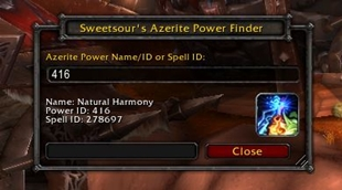 Sweetsour's Azerite Power Finder
